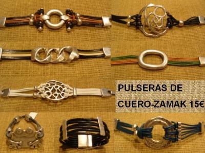 0432cd2f85ff PULSERAS DE CUERO-ZAMAK